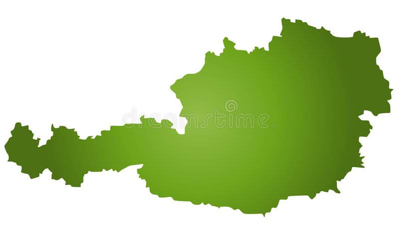 Mapa Áustria ilustração stock