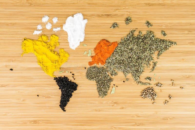 Mapa świat robić biali różnorodni spicies zdjęcia royalty free
