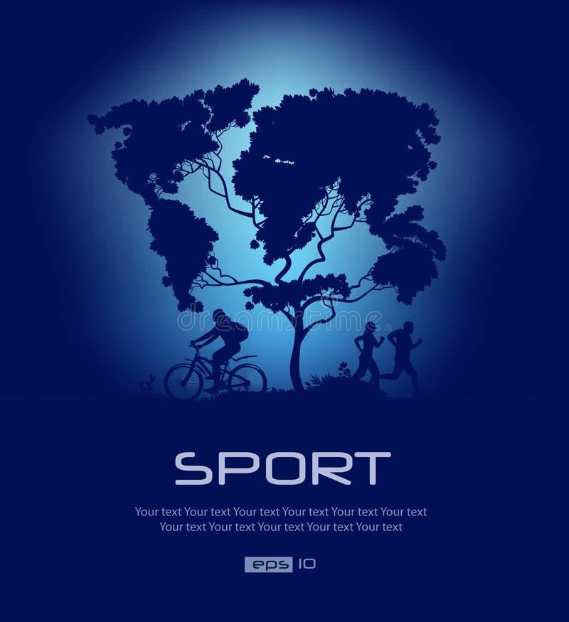 Mapa świat. Sport ilustracja wektor