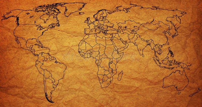 mapa świat stary polityczny prawdziwy royalty ilustracja