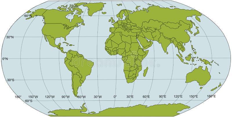 mapa świata politycznego royalty ilustracja