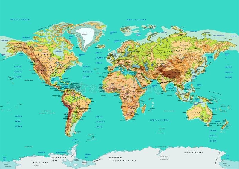 mapa świata również zwrócić corel ilustracji wektora ilustracji