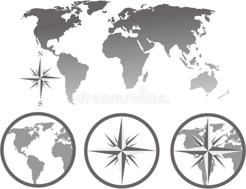 mapa świata ste ilustracji