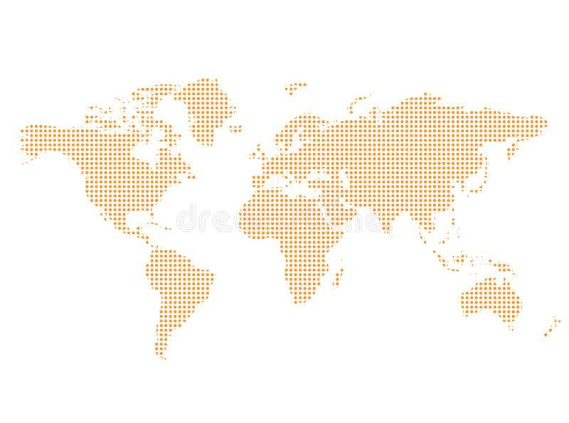 mapa świata textured ilustracja wektor