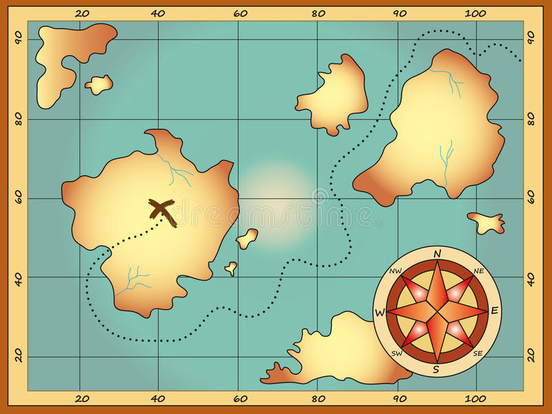 mapa royalty ilustracja