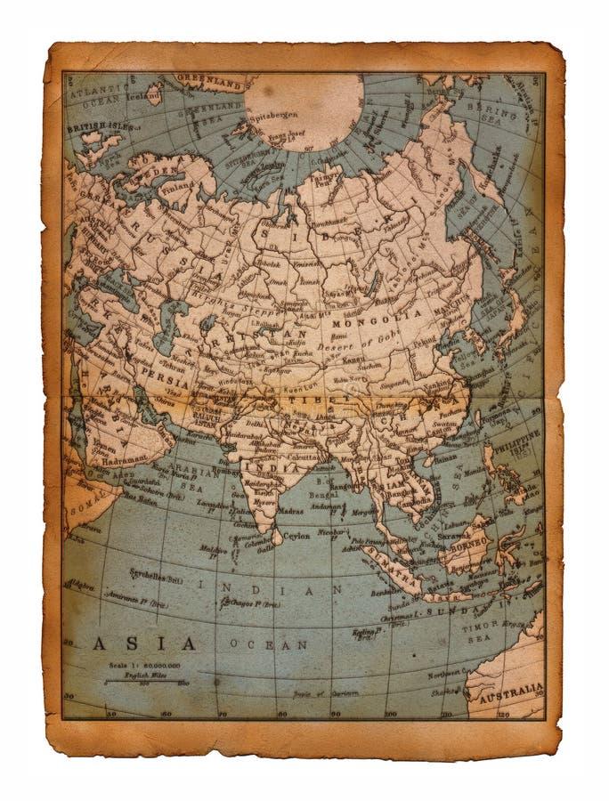 Mapa 34 de Ásia ilustração do vetor
