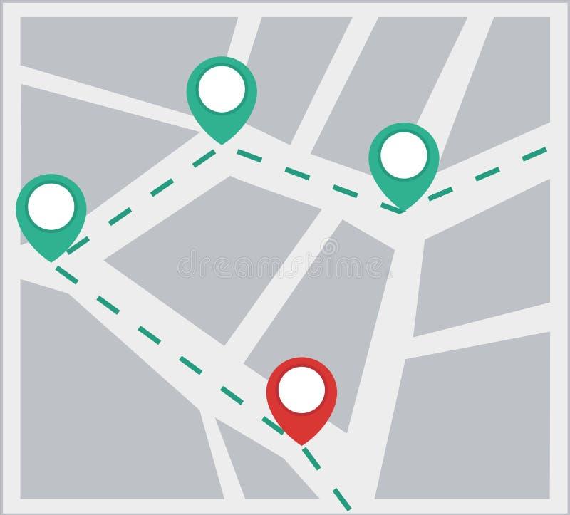 Mapa stock de ilustración