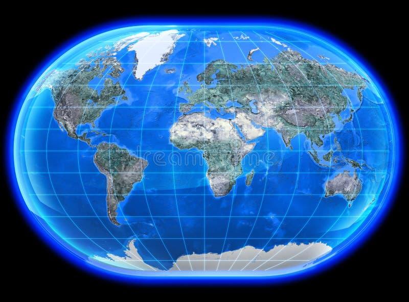 Mapa 3D Mundi royalty-vrije illustratie