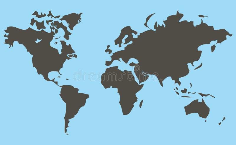 Mapa ilustração stock