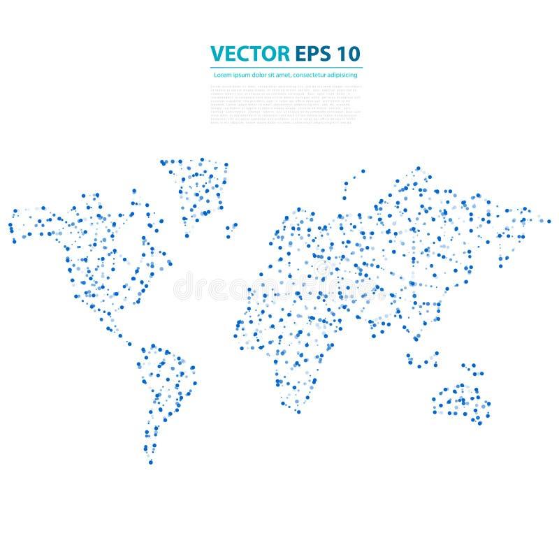 Mapa abstracto de la tierra de la telecomunicación del vector stock de ilustración