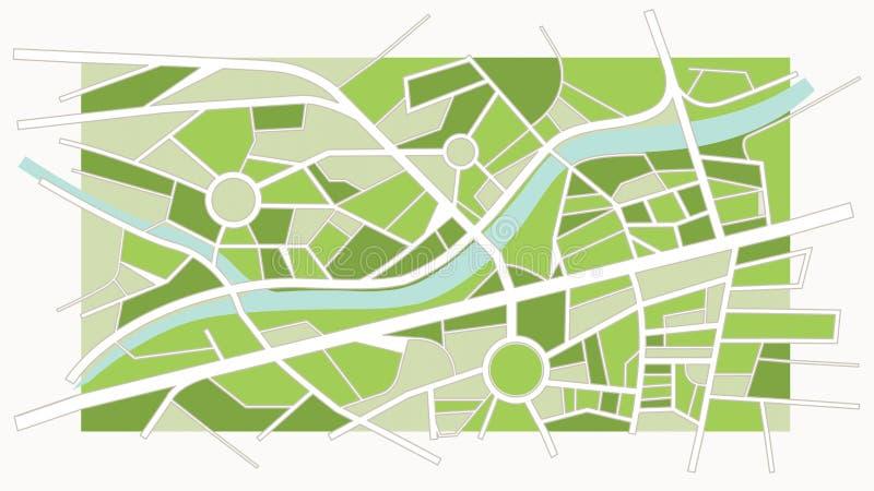 Mapa abstrato da cidade ilustração royalty free