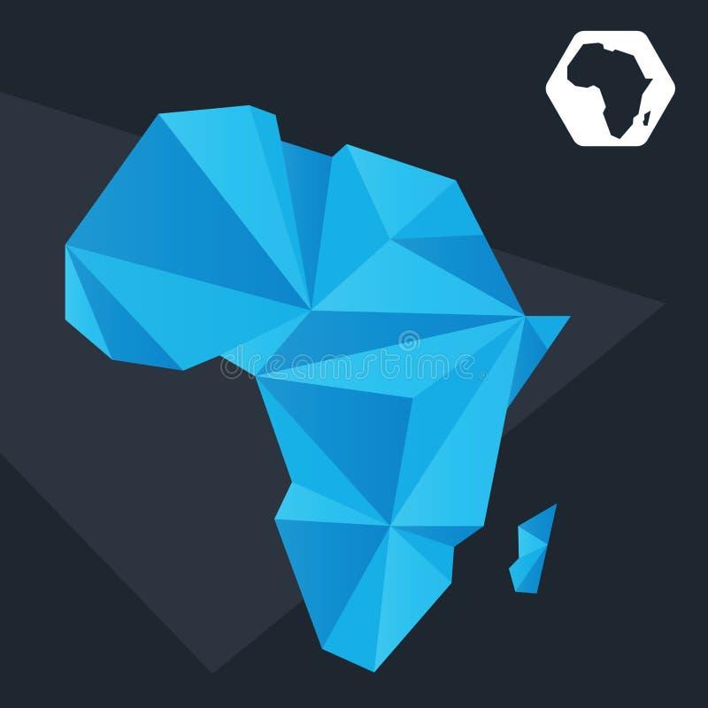 Mapa abstrato de África ilustração royalty free