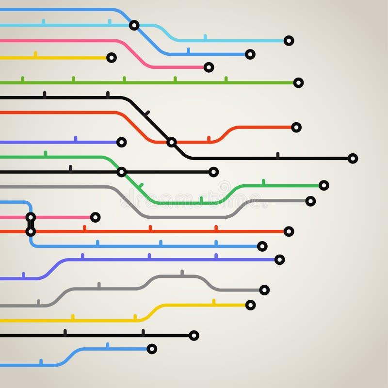 Mapa abstrato do metro ilustração do vetor