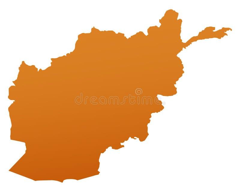 mapa afganistanie ilustracji