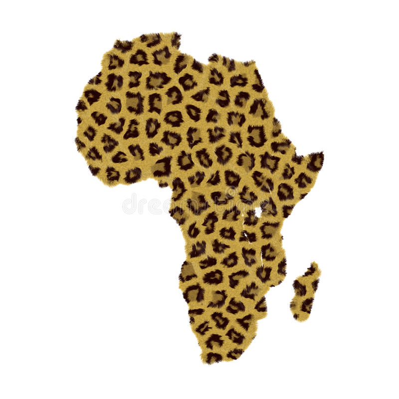 Mapa africano do continente ilustração do vetor