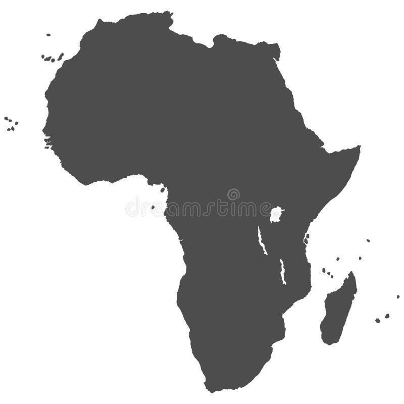 Mapa Afrykański kontynent ilustracja wektor