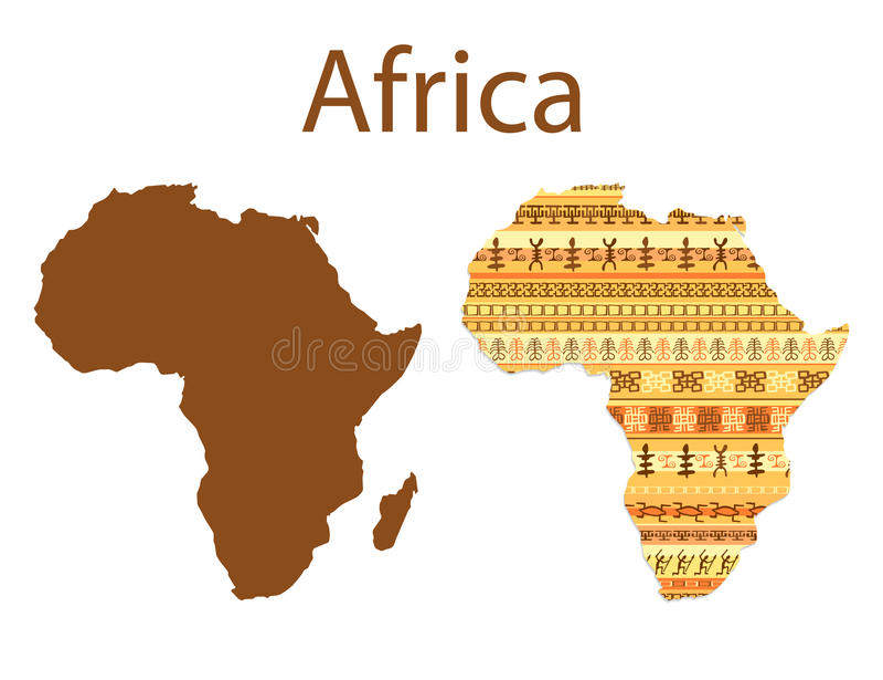 Mapa Afryka wektoru ilustracja