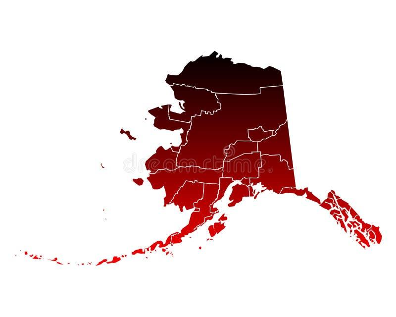 Mapa Alaska ilustracji