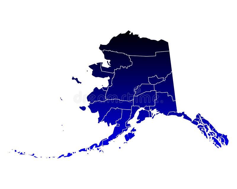 Mapa Alaska royalty ilustracja