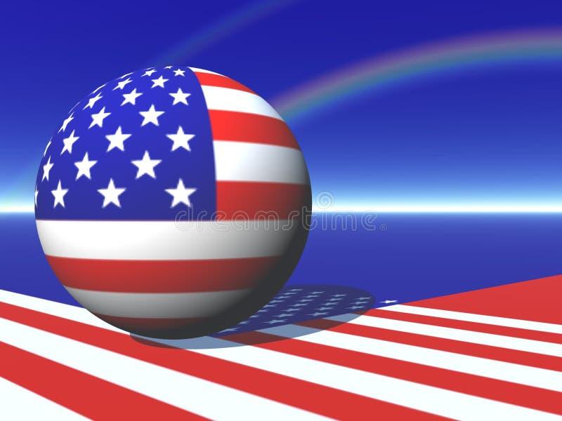 Mapa americano do globo ilustração stock