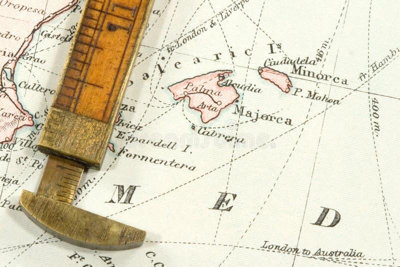 Mapa antigo fotografia de stock royalty free