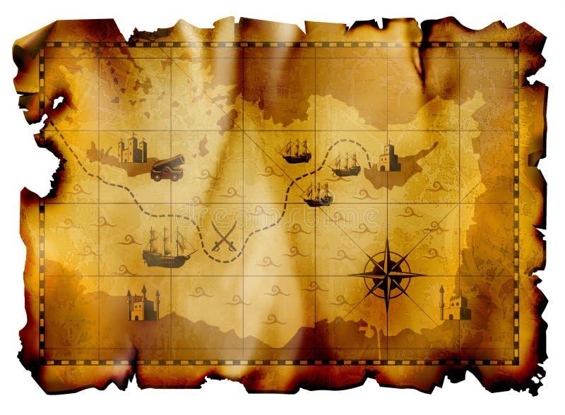 Mapa antigo ilustração do vetor