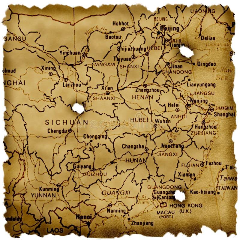 Mapa antigo da porcelana ilustração do vetor