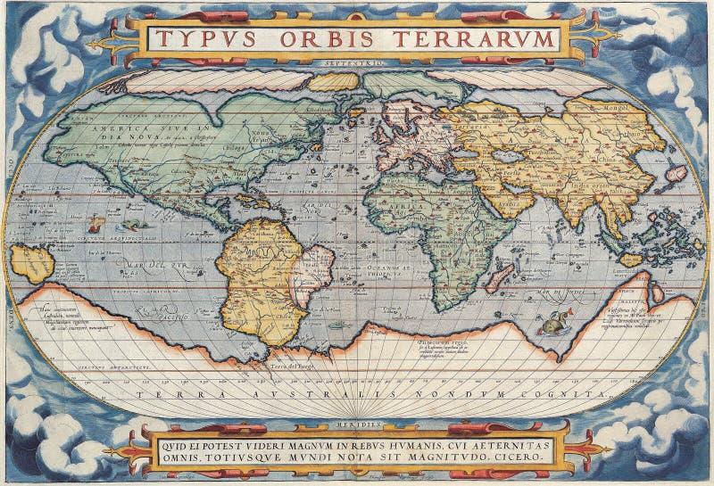 Mapa antigo de alta qualidade ilustração royalty free