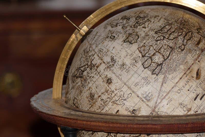 Mapa antigo do globo foto de stock royalty free