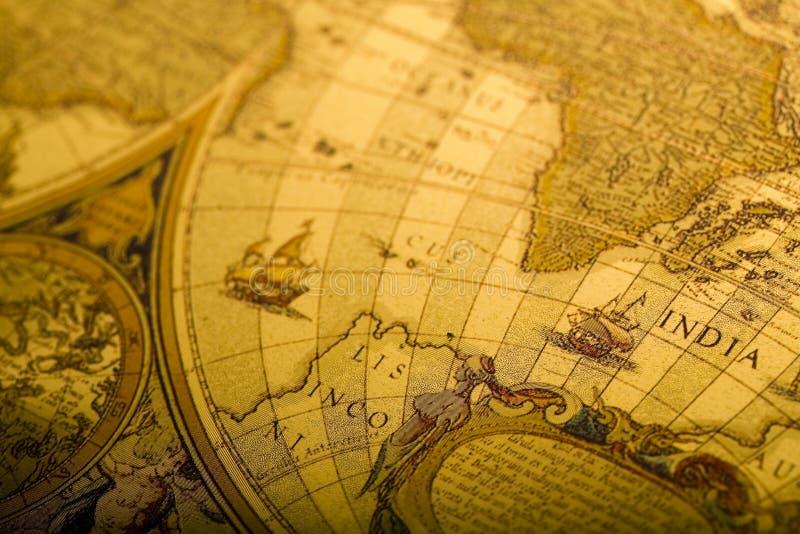 mapa antykwarski świat zdjęcia stock