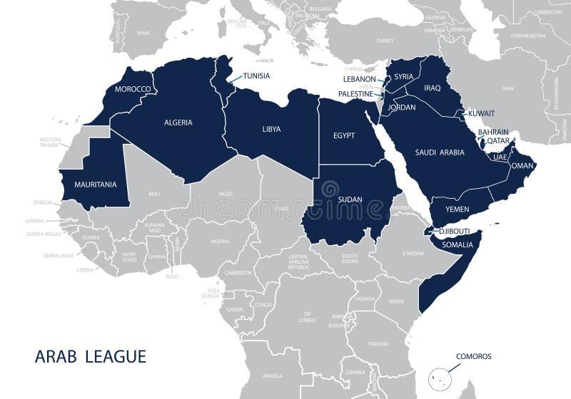 Mapa Arabski liga royalty ilustracja