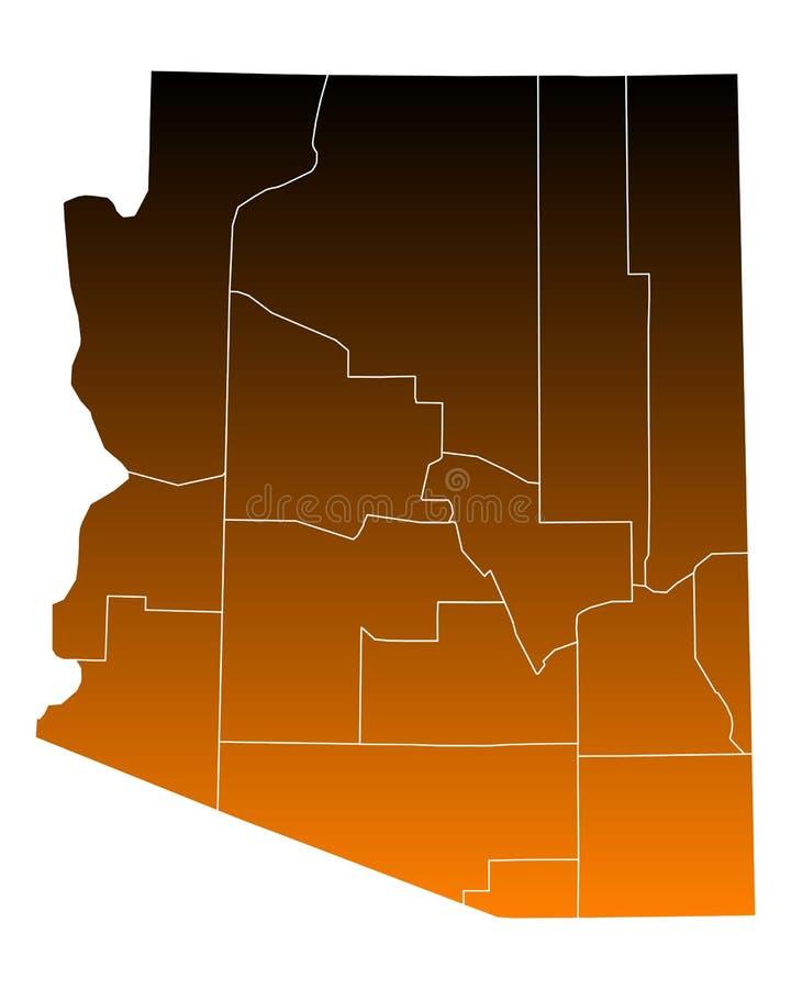 Mapa Arizona ilustracja wektor
