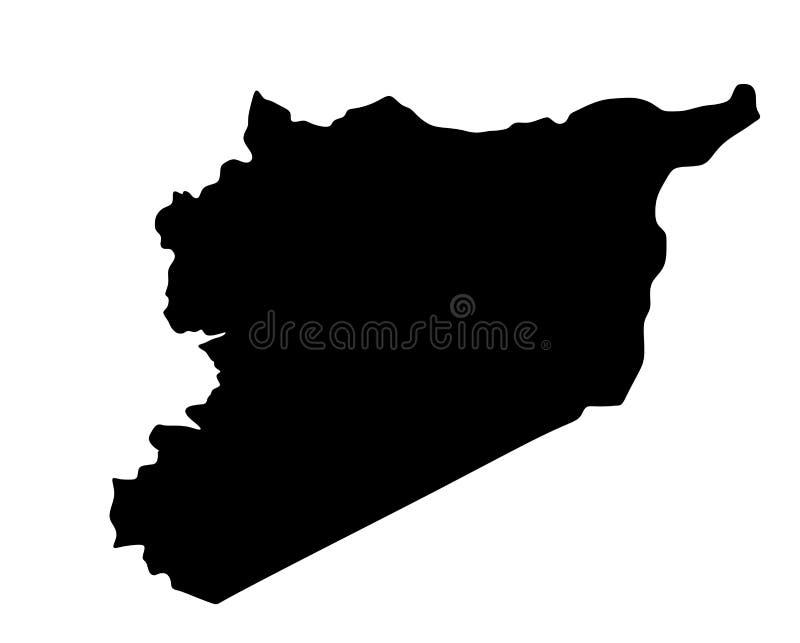 Mapa arriba detallado Siria País de Oriente Medio de Asia libre illustration
