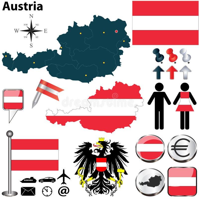 Mapa Austria royalty ilustracja