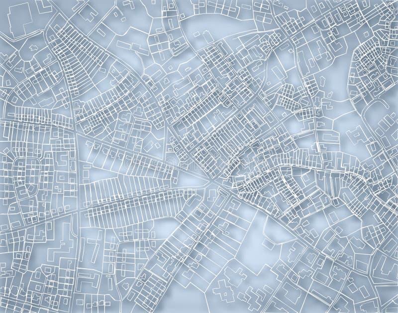 Mapa azul áspero ilustração stock