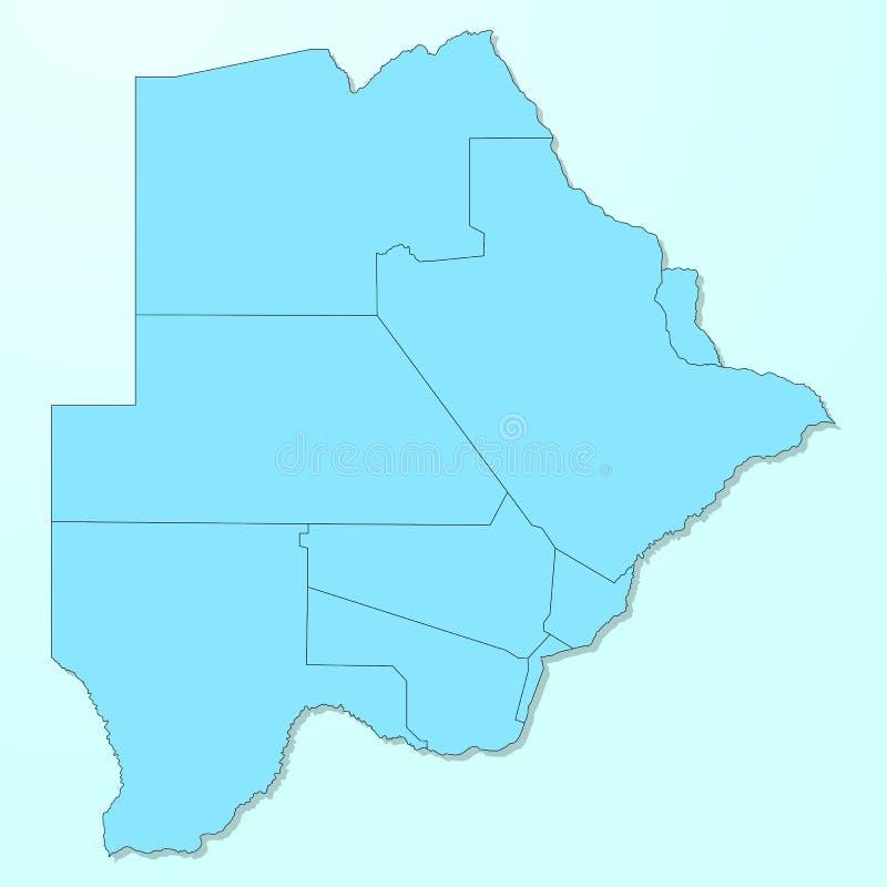 Mapa azul de Botswana en fondo degradado stock de ilustración