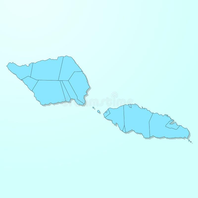 Mapa azul de Samoa en fondo degradado libre illustration