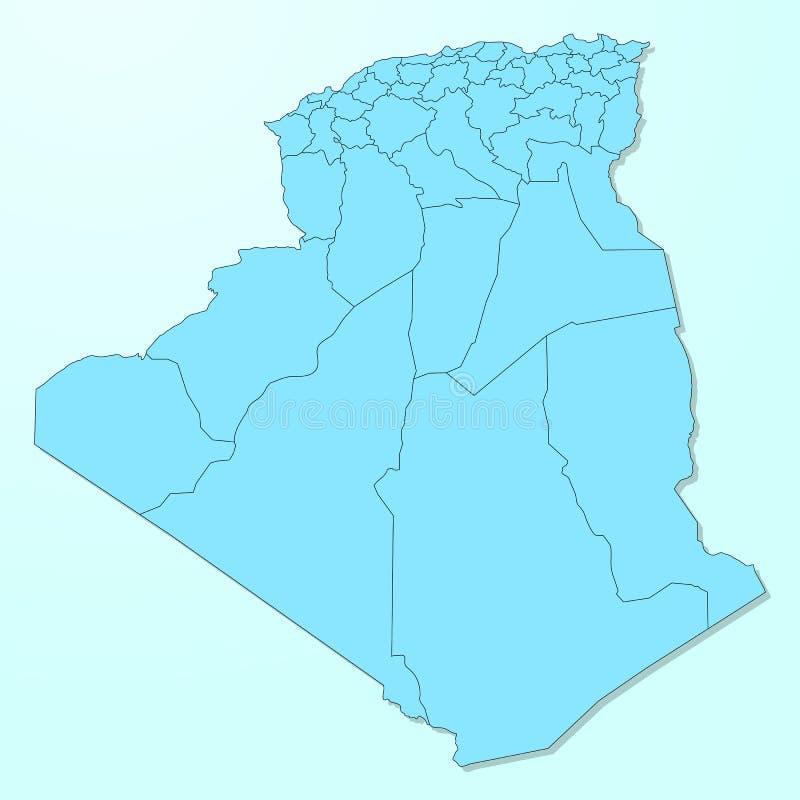 Mapa azul del Camerún en fondo degradado libre illustration