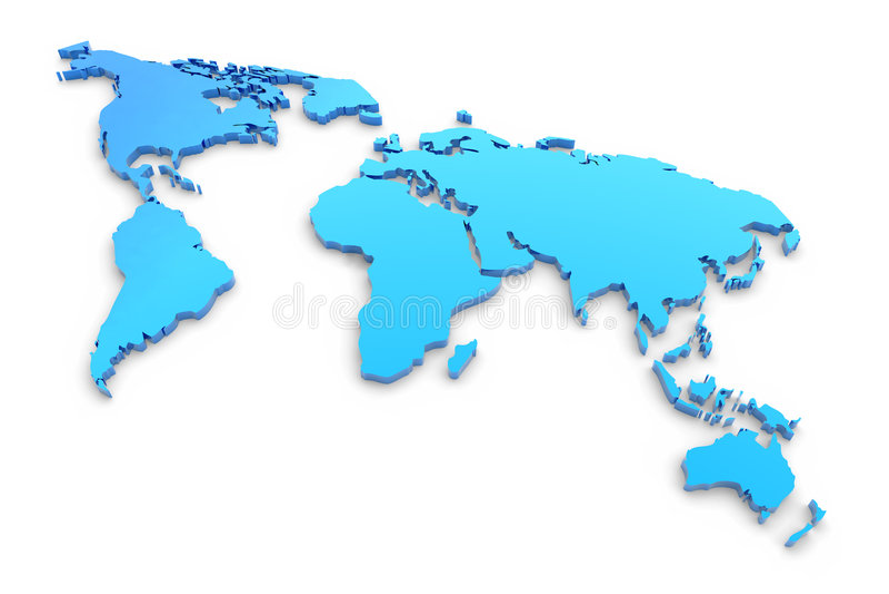 mapa błękitny wyrzucony świat ilustracji