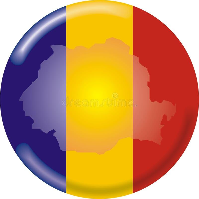 mapa bandery Romania ilustracji