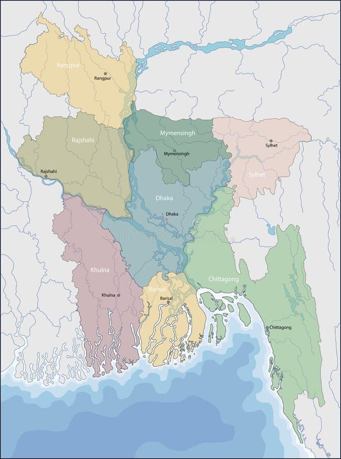 mapa bangladesh royalty ilustracja