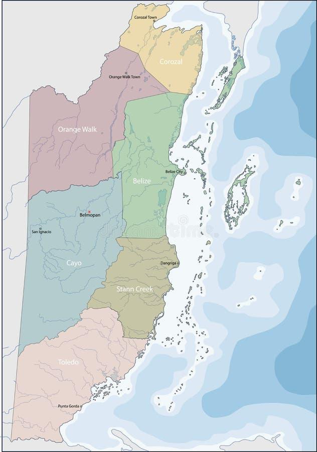 Mapa Belize royalty ilustracja