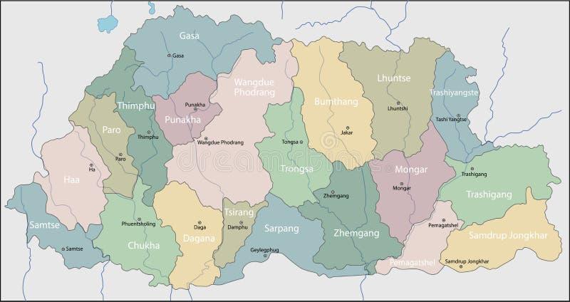 Mapa Bhutan royalty ilustracja