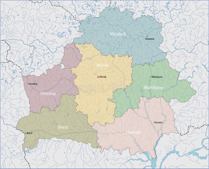 mapa białorusi ilustracji