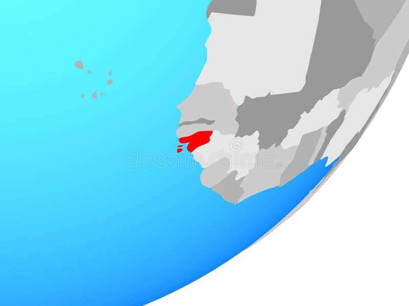 Mapa Bissau na kuli ziemskiej ilustracji