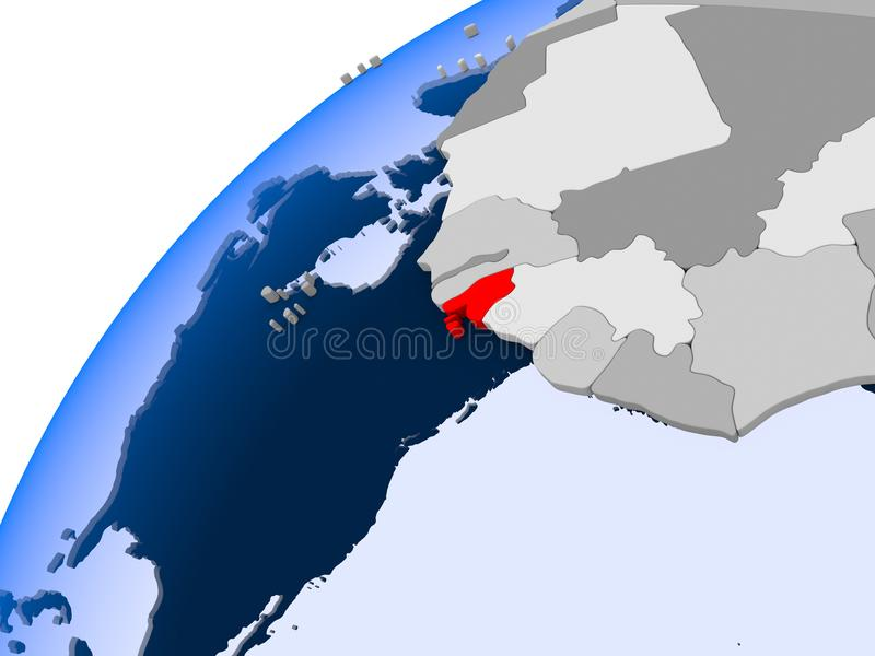 Mapa Bissau w czerwieni ilustracji
