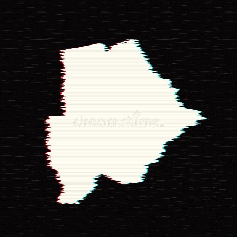 Mapa Botswana del vector ilustración del vector