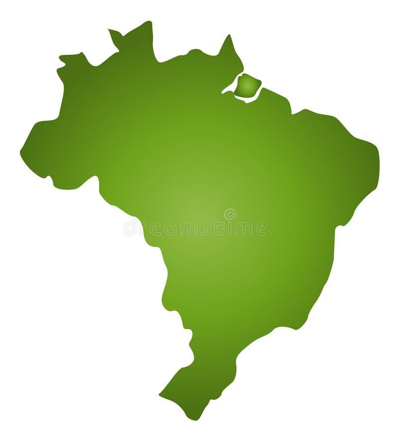 Mapa Brasil ilustração do vetor