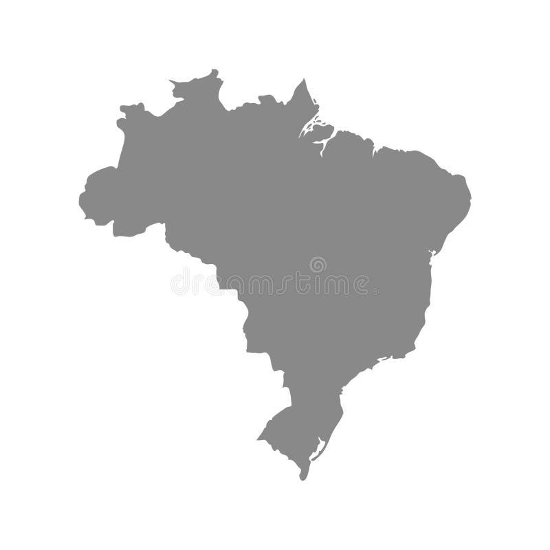Mapa Brazylia wektoru ilustracja ilustracji