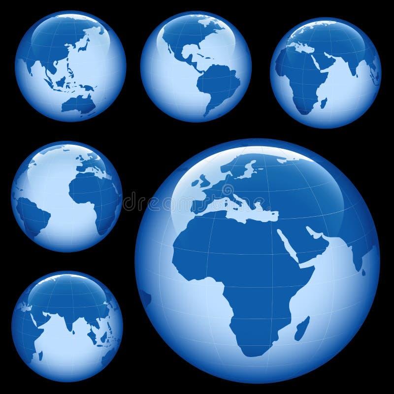 Mapa brilhante da terra ilustração do vetor